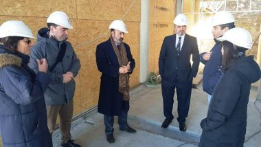 Muchnik, Battaini y Sagastume constataron el avance de la obra del edificio del STJ