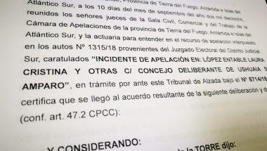 La Cámara de Apelaciones revocó falló del Juez Electoral