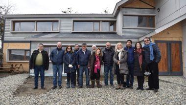 Visita a la obra nueva Casa de Justicia de Tolhuin