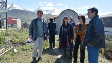 Recorren el avance de obra de la Cámara de Apelaciones y los juzgados laborales de Ushuaia