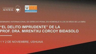 El Doctor Muchnik cerrará un  Seminario Internacional de Derecho Penal
