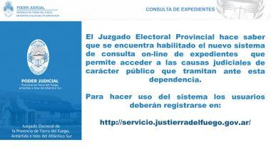 El Juzgado Electoral habilitó nuevo sistema de consulta on-line de expedientes