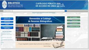 El Poder Judicial dispone de un nuevo Catálogo Bibliográfico on-line