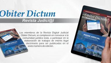La Revista Judicial digital » Obiter Dictum» invita a participar de su edición Número 6