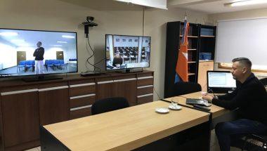 Nueva sala de videoconferencias en el Distrito Judicial Norte