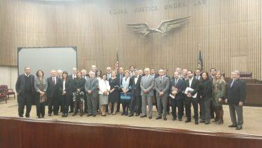 """Magistrados participan del seminario """"Gobierno y Educación Judicial"""" organizado por la Escuela de Derecho de New York"""