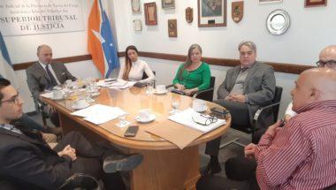 El Superior Tribunal de Justicia recibió a integrantes de la UEJN