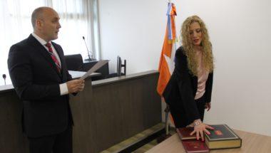 Prestó juramento la nueva Secretaria del Juzgado en lo Civil y Comercial Nº1 de Ushuaia