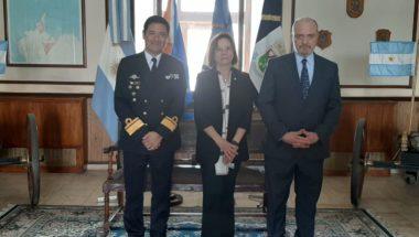Los jueces del Superior Tribunal de Justicia visitaron al Comandante del Área Naval Austral