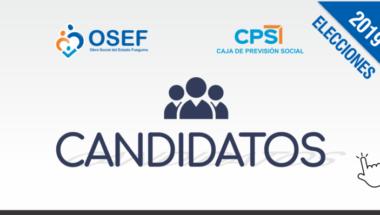 Se encuentra a disposición de los electores listas de candidatos y propuestas