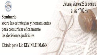 Kevin Lehmann dictará un Seminario en Ushuaia