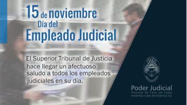 ¡Felíz dia al Empleado Judicial!