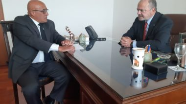 El Dr. Sagastume recibió al secretario gremial Luis Bechis