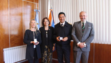 El titular de la Armada en Ushuaia visitó el edificio del Superior Tribunal de Justicia