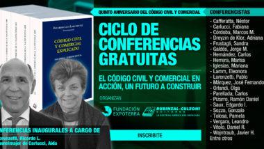 Desarrollan conferencias gratuitas sobre «El Código Civil y Comercial en acción, un futuro a construir»