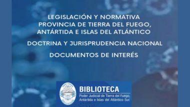 La biblioteca pone a disposición legislación, normativas y fallos relacionados con la Emergencia Sanitaria COVID-19