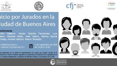 Se desarrollará una Jornada virtual sobre Juicio por Jurados en la Ciudad de Buenos Aires