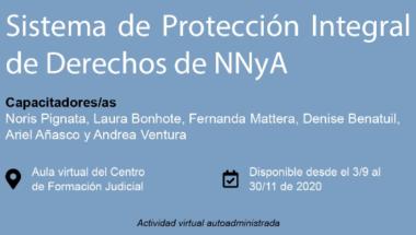 """Invitan a participar de la capacitación virtual sobre """"Sistema de Protección Integral de Derechos de NNyA"""