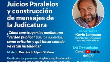 """Se desarrollará una capacitación sobre """"Juicios paralelos y construcción de los mensajes de la judicatura"""""""