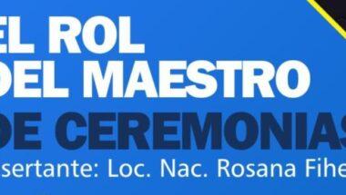 """Invitan a participar de un encuentro virtual sobre """"El rol del maestro de ceremonias"""""""