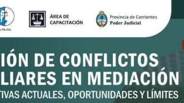 """Exitosa apertura del curso """"Gestión de Conflictos Familiares en Mediación, Perspectivas Actuales, Oportunidades y Límites"""""""