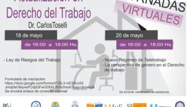 """Invitan a la Jornada Virtual """"Actualización en Derecho del Trabajo"""""""