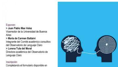 """Invitan a participar de la presentación virtual del """"Observatorio de Lenguaje Claro"""""""