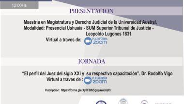 """Invitan a la Jornada """"El perfil del Juez del Siglo XXI y su respectiva capacitación"""""""